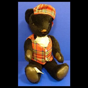 Nisbet Scottish Black Teddy Bear Limited Edition England