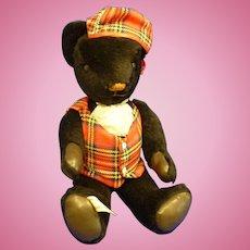 Nisbet Scottish Black Teddy Bear Limited Edition England