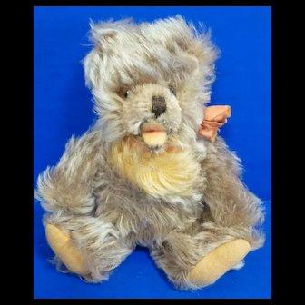 Small Steiff Mohair Zotty Bear with Original Ribbon
