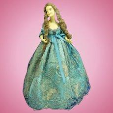 1920's Munzerlite Boudoir Half Doll Lady Lamp Light Figurine