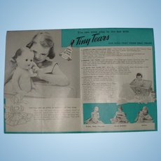 American Character Doll Brochure for Toodles, Tiny Tears, Sweet Sue and more