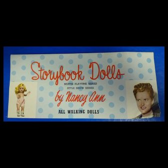 Nancy Ann Storybook Doll Muffie Playtime and Style Show Series Brochure