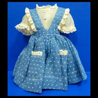 Madame Alexander Doll Blouse and Pinafore Dress