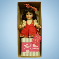 Ideal P-90 Toni Doll in Original Box with Playwave Set