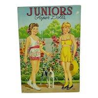 1945 Uncut Juniors Paper Dolls - Janet, Bess, Meg, and Patty