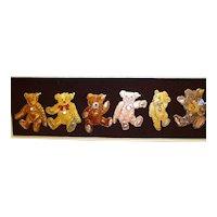 Steiff Teddy Bear Pin Set, 6 Pins