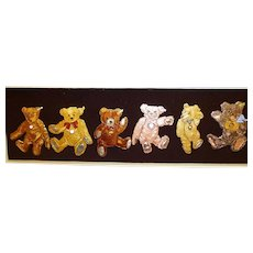 Steiff Teddy Bear Pin Set, 6 Pins