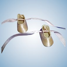 Pink Satin Ballet Slippers Shoes for Ginny Doll, Muffie, Alexander-kins