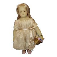 Small Wax Doll signed Betty Begole