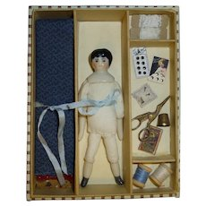 Dolly's Dressmaker, Petite China Head Doll and Sewing Accessories