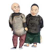 """Two Vintage 10"""" Chinese Dolls, all original"""