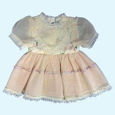 Pink Doll Dress with Taffeta Bodice