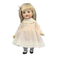 """8"""" Bisque Head Doll, Marked PM, 914, 6/0"""
