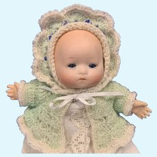 """Bisque 8"""" Baby Doll marked Germany, Grace Putnam Bye Lo Type"""