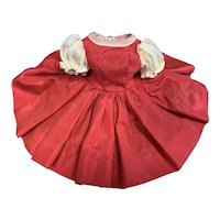 Cissette Doll Red Taffeta Dress with Organdy Sleeves
