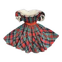 Madame Alexander Doll Polly Pigtails Plaid Dress