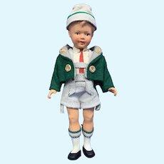 """8"""" Celluloid Boy Doll, Original Tyrolean Costume"""