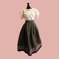 Antique Fashion Dress for your Large French or German Fashion Lady
