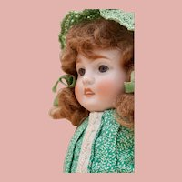 "Huge 7.5"" German All Bisque doll with Chunky body"