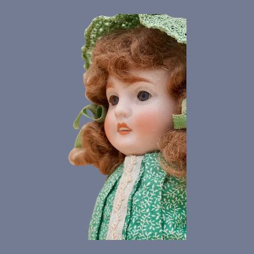 """Huge 7.5"""" German All Bisque doll with Chunky body"""