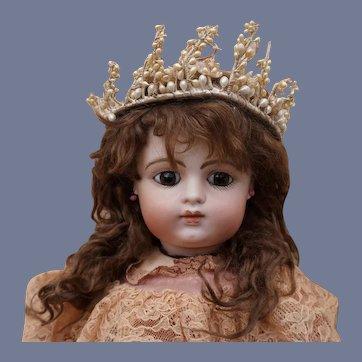 Antique Pearl Floral Crown