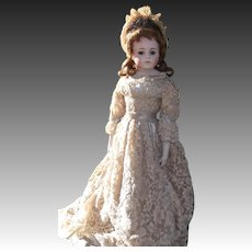 """Beautiful Restored Bisque Doll Known as """"The Kuhnlenz Bru""""."""