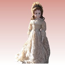 "Beautiful Restored Bisque Doll Known as ""The Kuhnlenz Bru""."