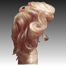 Rarely seen strawberry blonde Antique Mohair wig