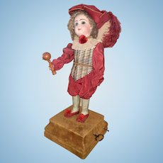 French Musical Automaton Marquis Child with toy with Provenance