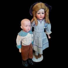 Hold for  S Sweet German Characters Brother and Sister by Huebach