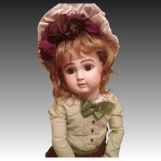French bisque Bebe Steiner, Figure A with rare bisque hands. Signed Steiner eyes with lever