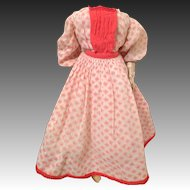 Coral and White Floral French Fashion Dress and original Petticoat