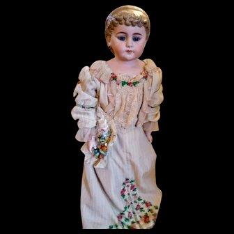 Beautiful Glass eyed Simon Halbig Parian Doll