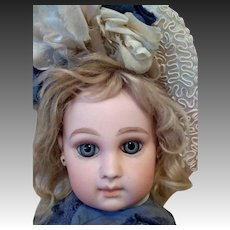 Stunning! Early period French bisque bebe E.J. 8 portrait like features