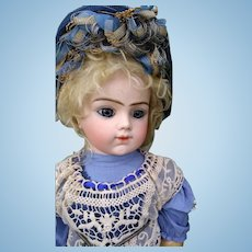 Large Wonderful Closed Mouth Bebe Bru! Incredible Blue eyes ~ Great outfit ~ Original Body