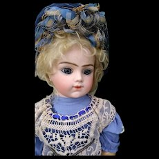 Large Wonderful Closed Mouth Bebe Bru! Incredible Blue eyes ~ Great outfit ~ Original Body