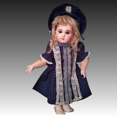 French Bisque Bebe Jumeau, incised Depose Model with Blue Eyes