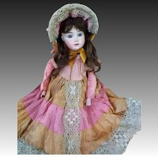 """TLC """"A.T. Kestner""""  Beautiful example of the rare doll!  finest modeling of bisque and painting"""