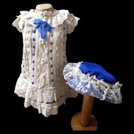 Exquisite bebe couturier Dress and Hat!