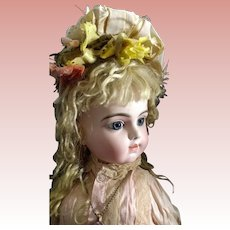 "24"" Transitional Bru Bebe ~ Pressed Bisque Head, Paperweight Blue Eyes"