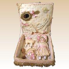 Delightfull All Bisque miniature in presentation box