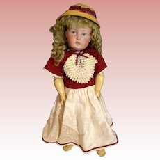 German Bisque Art Character Doll with Painted Eyes,  Model 180, BY Kestner