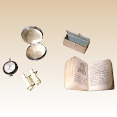 French Fashion accessories, Stanhope, Watch, Book, Box Sterling Container