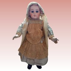 Original Early Jumeau dress with Original Bonnet