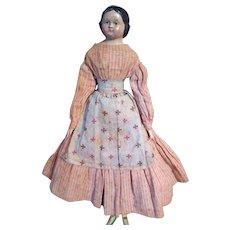 German Paper Mache doll known as Milliner's Model Original Body~ Ringlets