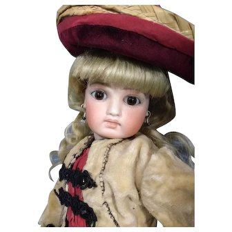 Sonneberg Bisque doll in the Bru Manner Nice early 8 ball body