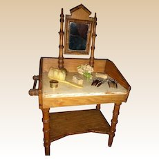 French Dressing Table with antique Accessories