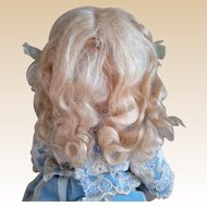 Fab antique Mohair Wig, original curls and ribbons