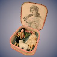 Petite Bisque Head Boy and Girl in Presentation box