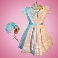 Large antique dress with Bonnet